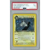 Pokemon Team Rocket 1st Edition Dark Magneton 11/82 PSA 7