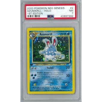 Pokemon Neo Genesis 1st Edition Azumarill 2/111 PSA 7