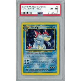Pokemon Neo Genesis Feraligatr 4/111 PSA 8