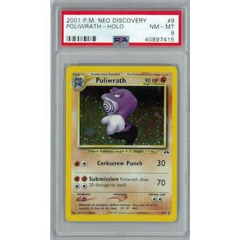 Pokemon Neo Discovery Poliwrath 9/75 PSA 8