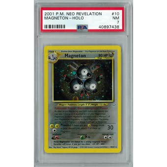 Pokemon Neo Revelation Magneton 10/64 PSA 7