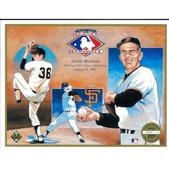 1991 Upper Deck Heroes of Baseball San Francisco Giants Reunion Commemorative Sheet