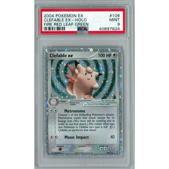 Pokemon EX Fire Red Leaf Green Clefable ex 106/112 PSA 9