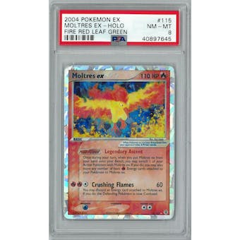 Pokemon EX Fire Red Leaf Green Moltres ex 115/112 PSA 8
