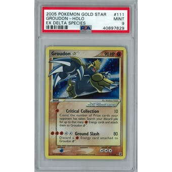 Pokemon EX Delta Species Groudon Gold Star 111/113 PSA 9