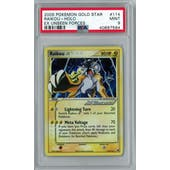 Pokemon EX Unseen Forces Raikou Gold Star 114/115 PSA 9