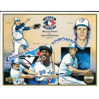 1992 Upper Deck Heroes of Baseball Toronto Blue Jays Commemorative Sheet