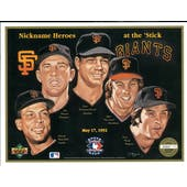 "1992 Upper Deck Heroes of Baseball San Francisco Giants ""Nicknames"" Commemorative Sheet"