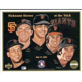 "1992 Upper Deck Heroes of Baseball San Francisco Giants ""Nicknames"" Commemorative Sheet"