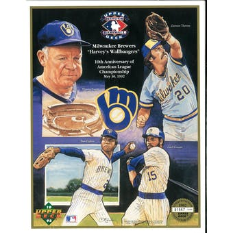 "1992 Upper Deck Heroes of Baseball Milwaukee Brewers ""Wallbangers"" Commemorative Sheet"
