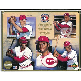 1992 Upper Deck Heroes of Baseball Cincinnati Reds Commemorative Sheet