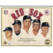 1992 Upper Deck Heroes of Baseball Boston Red Sox Anniversary Commemorative Sheet