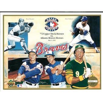 1992 Upper Deck Heroes of Baseball Atlanta Braves Commemorative Sheet
