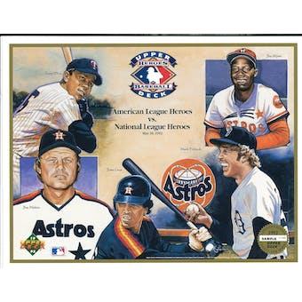 1992 Upper Deck Heroes of Baseball AL vs NL Commemorative Sheet