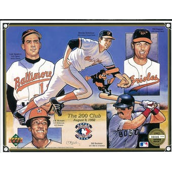1992 Upper Deck Heroes of Baseball The 200 Club Commemorative Sheet
