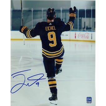Jack Eichel Autographed #9 Buffalo Sabres 8x10 Blue Jersey Photo