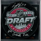 Casey Mittelstadt Autographed Buffalo Sabres Draft Hockey Puck