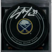 Casey Mittelstadt Autographed Buffalo Sabres Official Game Puck
