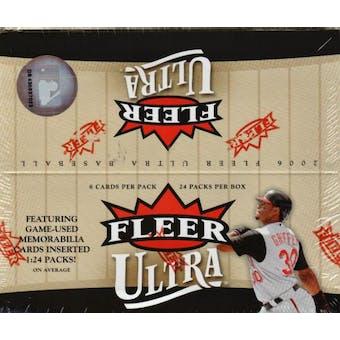 2006 Fleer Ultra Baseball 24 Pack Box