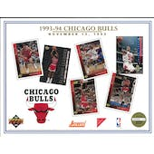 1993/94 Upper Deck Chicago Bulls Commemorative Sheet Jordan/Pippen