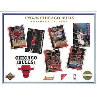 1993/94 Upper Deck Chicago Bulls Commemorative Sheet Jordan/Pippen