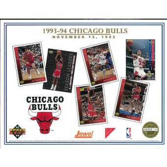 1993/94 Upper Deck Chicago Bulls Commemorative Sheet