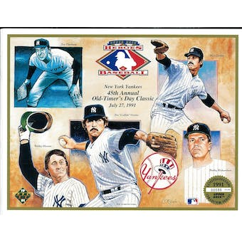 1991 Upper Deck Heroes of Baseball Yankees Old Timers Classic Commemorative Sheet