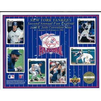 1992 Upper Deck Heroes of Baseball Yankees Fan Fest Commemorative Sheet