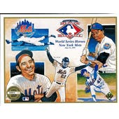 1991 Upper Deck Heroes of Baseball World Series Heroes of NY Mets Commemorative Sheet