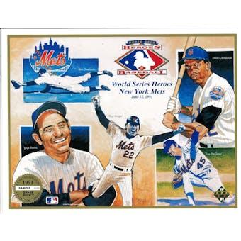 1991 Upper Deck Heroes of Baseball World Series Heroes of NY Mets Commemorative Sheet