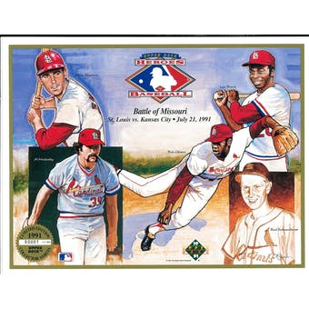 1991 Upper Deck Heroes of Baseball Battle Of Missouri Commemorative Sheet