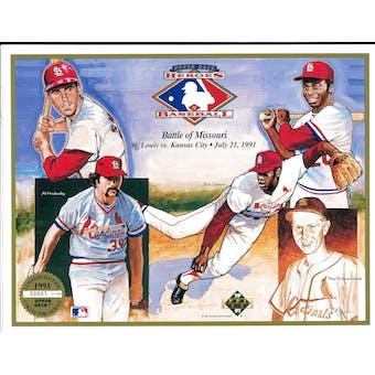 1991 Upper Deck Heroes of Baseball Battle Of Missouri Commemorative Sheet