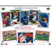 1990 Upper Deck 11th National Sports Collectors Convention Commemorative Sheet