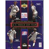1994 Upper Deck U.S. Men's National World Cup Team Blue Commemorative Sheet