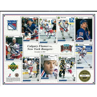 1991/92 Upper Deck New York Rangers Commemorative Sheet Messier/Graves Sheet 1 of 3