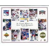 1991/92 Upper Deck New York Rangers Commemorative Sheet Messier/Graves Sheet 2 of 3