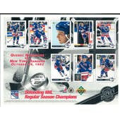 1992/93 Upper Deck New York Rangers Commemorative Sheet Leetch, Domi, Richter