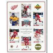 1991/92 Upper Deck Detroit Red Wings Vertical Commemorative Sheet Lidstrom/Yzerman/Fedorov