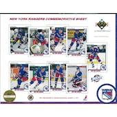 1990/91 Upper Deck New York Rangers Commemorative Sheet Patrick/VanbiesbrouckSheet 2 of 3