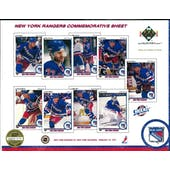 1990/91 Upper Deck New York Rangers Commemorative Sheet Domi/BrotenSheet 3 of 3