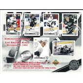 1992/93 Upper Deck LA Kings Commemorative Sheet Robitaille/Coffey/Blake