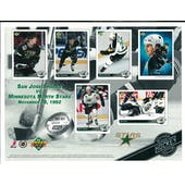 1992/93 Upper Deck Minnesota North Stars Commemorative Sheet Modano!