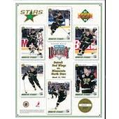 1991/92 Upper Deck Minnesota North Stars Commemorative Sheet Modano/Smith/Gagner