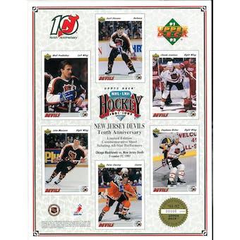 1991/92 Upper Deck New Jersey Devils Commemorative Sheet Stevens/Stastny