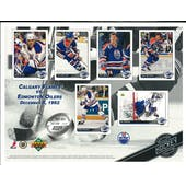 1992/93 Upper Deck Edmonton Oilers Commemorative Sheet