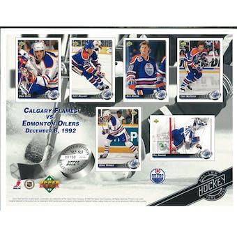 1992/93 Upper Deck Edmonton Oilers Commemorative Sheet