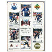 1991/92 Upper Deck Edmonton Oilers Commemorative Sheet Damphousse/Ranford