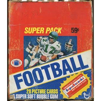 1980 Topps Football Super Cello Box