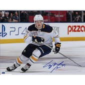 Casey Mittelstadt Autographed Buffalo Sabres 11x14 White Jersey Photo