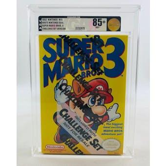 Nintendo (NES) Super Mario Bros. 3 Challenge Set VGA 85+ NM+ GOLD NEAR MINT Sealed